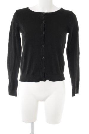 H&M Strickjacke schwarz schlichter Stil