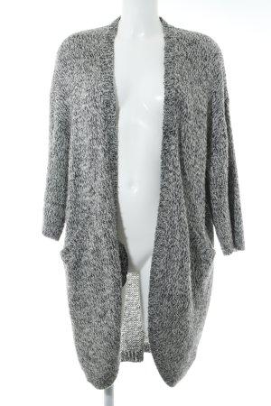 H&M Strickjacke schwarz-weiß meliert Casual-Look
