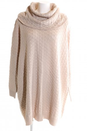H&M Strickkleid creme Zopfmuster Casual-Look