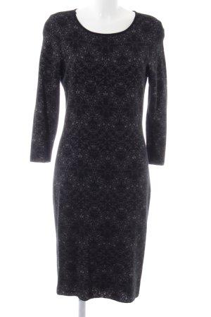 H&M Gebreide jurk zwart abstract patroon casual uitstraling