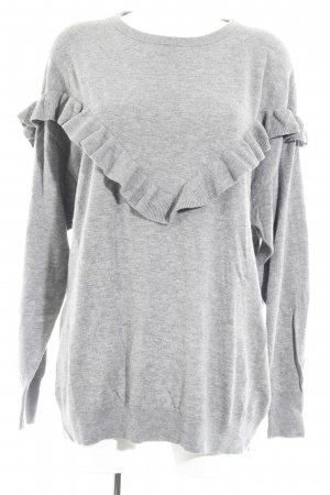 H&M Strickkleid grau Casual-Look