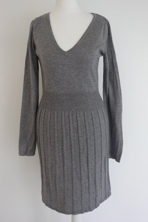 H&M Knitted Dress grey polyamide