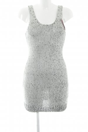 H&M Strickkleid hellgrau-silberfarben Casual-Look