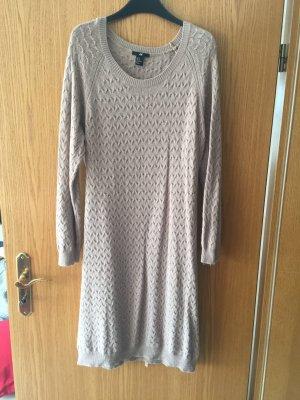 H&M Robe en maille tricotées chameau