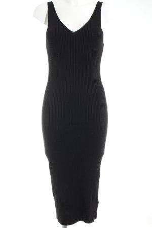 H&M Strickkleid schwarz Casual-Look