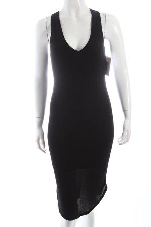 H&M Strickkleid schwarz schlichter Stil