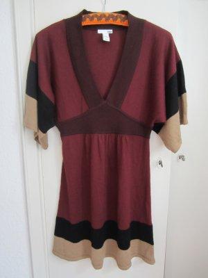 H&M Strickkleid Tunika Gr. S Kimonoschnitt Boho Hippie 25% Wolle wie neu