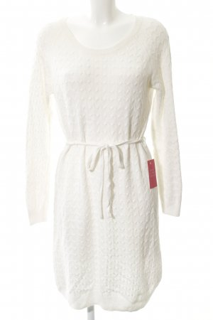 H&M Knitted Dress white cable stitch casual look