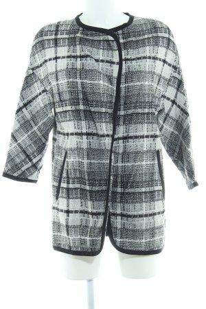 H&M Strickmantel schwarz-weiß Karomuster schlichter Stil