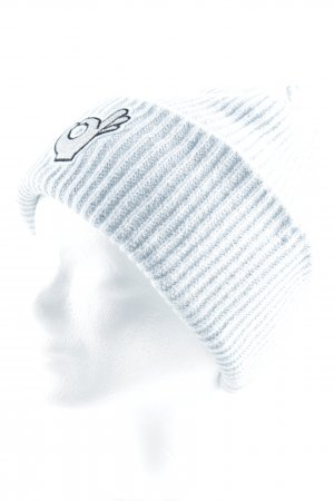 H&M Knitted Hat baby blue weave pattern street-fashion look