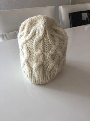 H&M Strickmütze Zopfmuster cremeweiss  Mütze Kappe