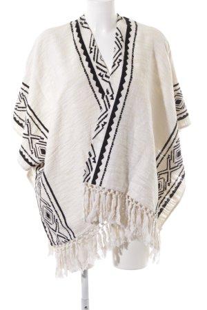 H&M Gebreide poncho Azteken patroon casual uitstraling