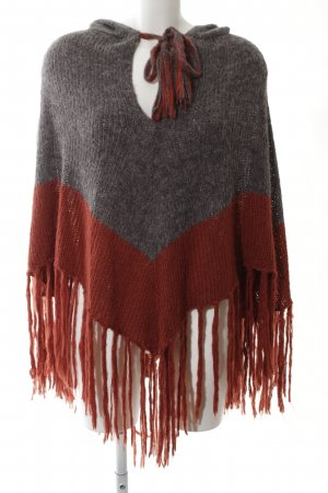 H&M Knitted Poncho red-silver-colored casual look