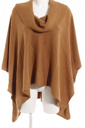 H&M Strickponcho camel Casual-Look