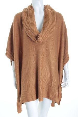 H&M Strickponcho camel klassischer Stil