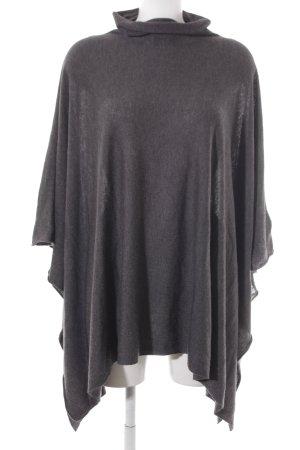 H&M Poncho de punto gris oscuro look casual