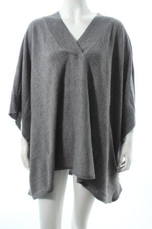 H&M Strickponcho grau schlichter Stil