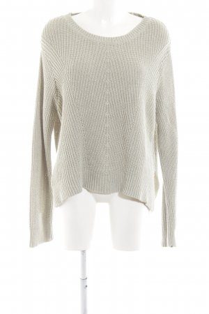 H&M Strickpullover hellgrau Zopfmuster Casual-Look