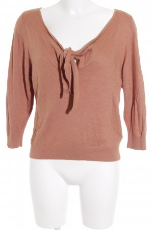 H&M Strickpullover apricot Casual-Look
