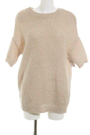 H&M Strickpullover beige-neonpink meliert Casual-Look