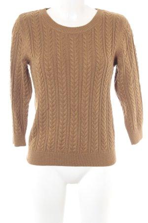 H&M Strickpullover beige Webmuster Casual-Look