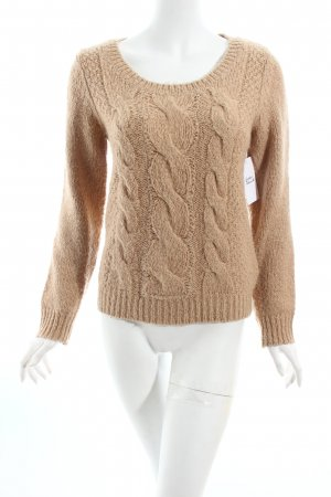 H&M Strickpullover beige Zopfmuster Casual-Look