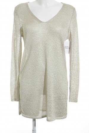 H&M Strickpullover creme Lochstrickmuster Casual-Look