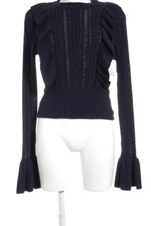 H&M Strickpullover dunkelblau Casual-Look