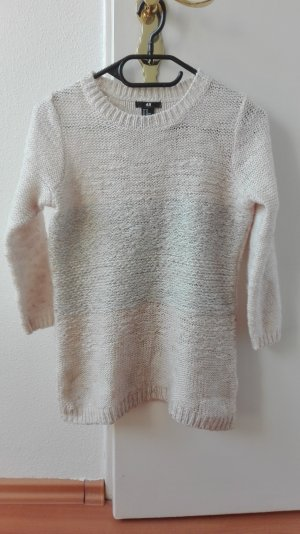 H&M Strickpullover Grobstrick Pullover XS 34 nude beige