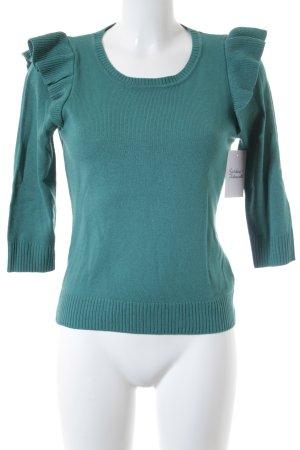 H&M Strickpullover grün klassischer Stil
