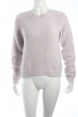 H&M Strickpullover hellgrau-hellbraun klassischer Stil