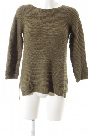 H&M Strickpullover khaki Casual-Look