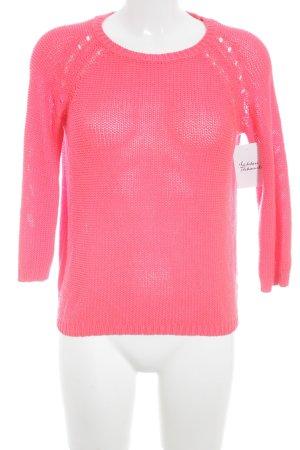 H&M Strickpullover magenta Casual-Look