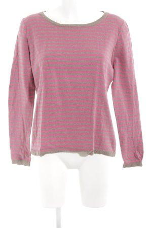 H&M Jersey de punto magenta-marrón claro rayas horizontales look casual