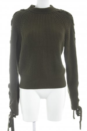 H&M Strickpullover olivgrün Casual-Look