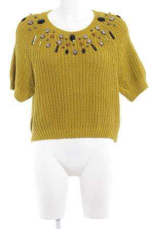 H&M Strickpullover olivgrün Street-Fashion-Look