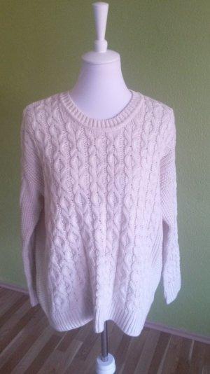 H&M Strickpullover Oversize Pullover Weiß in Gr. S. 36