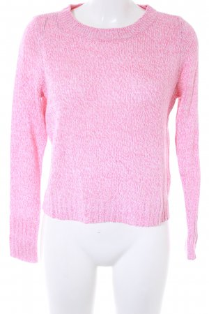 H&M Strickpullover pink meliert Casual-Look