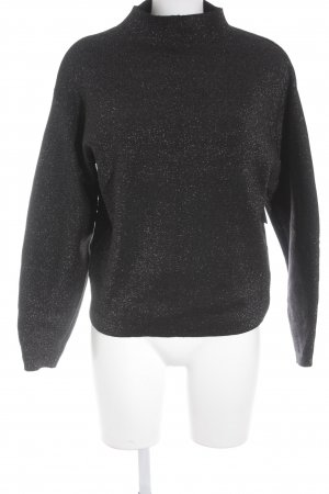 H&M Knitted Sweater black casual look