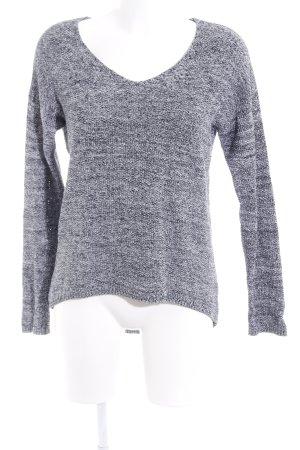 H&M Strickpullover schwarz-wollweiß meliert Casual-Look