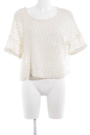 H&M Strickpullover weiß Casual-Look
