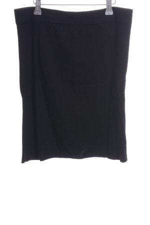 H&M Gonna lavorata a maglia nero stile professionale