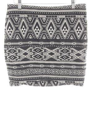 H&M Gonna lavorata a maglia nero-bianco stampa integrale stile casual