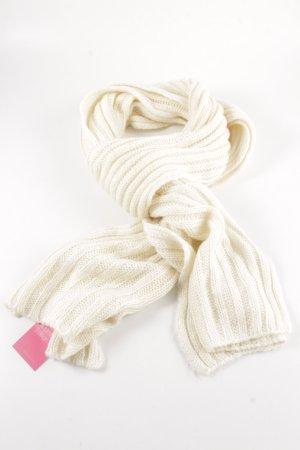 H&M Écharpe en tricot blanc cassé style décontracté