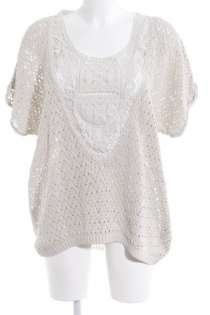 H&M Knitted Jumper cream hippie style