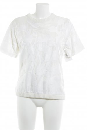 H&M Camisa tejida crema-blanco look casual