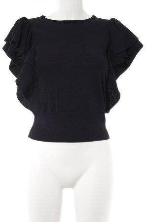 H&M Strickshirt dunkelblau Casual-Look
