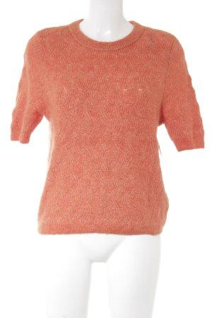 H&M Strickshirt dunkelorange Zopfmuster Casual-Look