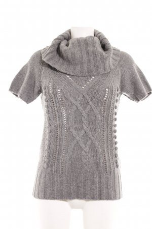 H&M Knitted Jumper light grey cable stitch casual look