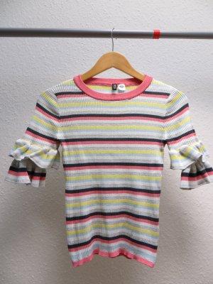 H&M Strickshirt mit Rüschenärmel